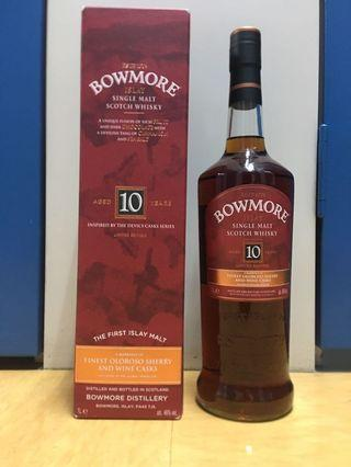 Bowmore 10YO Inspired by Devil Cask Oloroso and Wine Cask Whisky 1L 46%