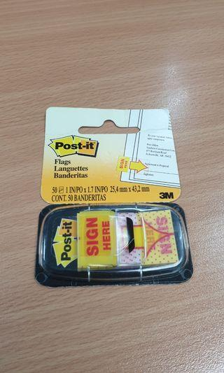 3M Sign Here Post It flag (post-it notes label colorful arrow sticker stationery