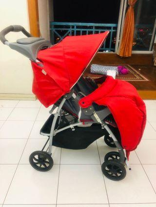 Graco brand Baby Stroller - foldable , light weight , suitable for infant to 6 years.
