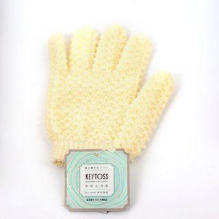🚚 KEYTOSS 詰朵斯 新觸感 去角質 沐浴 手套 單支入 五指款 2號 20x13x3cm SK502