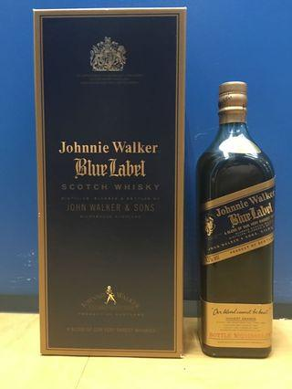 舊裝 Johnnie Walker Blue Label 750ml 43%