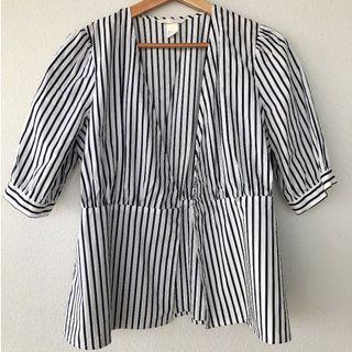 🚚 Zara Top / Cover - Blue Striped