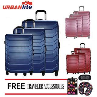 "Urbanlite Ledge 3in1 (20"" + 24"" + 28"")Hard Case Luggage Set"