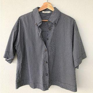 🚚 Loose Fitting Checked Print Top
