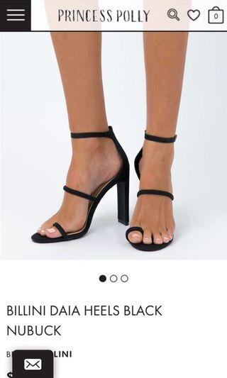 Billini Daia Heels Black Nubuck