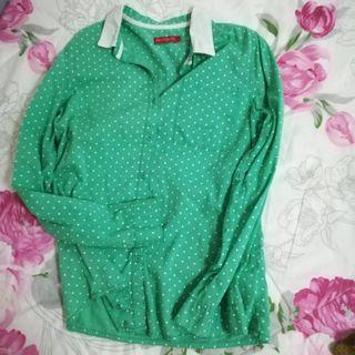Padini Polkadot Green Top