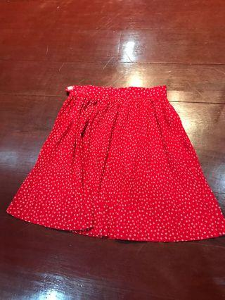 Red polkadot skirt
