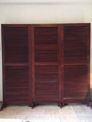 Elegant Solid Wooden Partition (3 pieces)