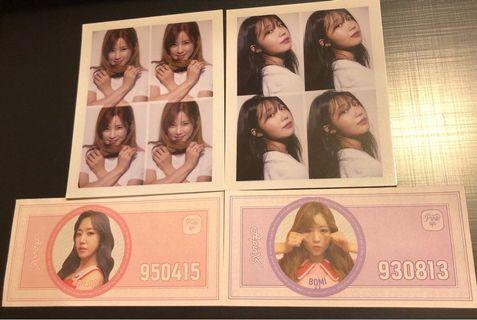 [Instock] Apink Pink Up Polaroid/T-Money Note