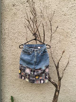 Original levi's limited edition mini jeans denim skirt/rok jeans