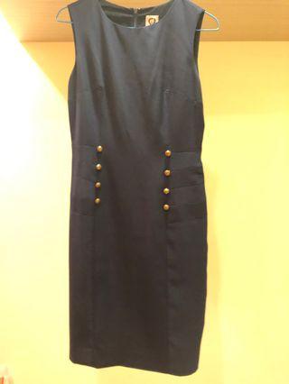 Navy Blue cut label dress