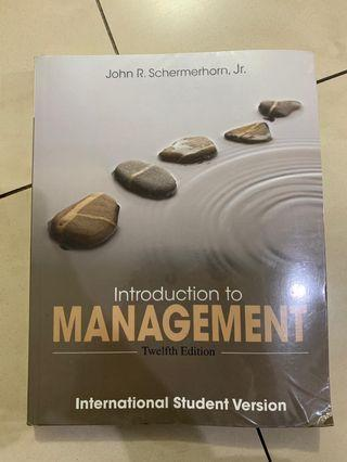 Introduction to Management. Twelfth Edition. (full bahasa inggris)