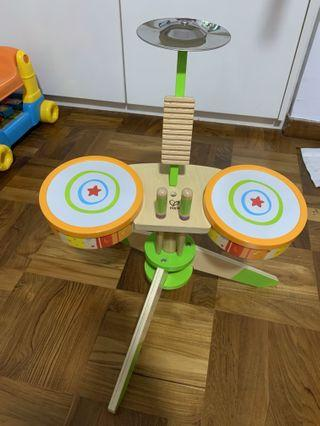 🚚 Hape rock and rhythm band drum set
