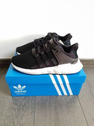 Adidas EQT Support 93/17 Black Milled Leather US 9.5