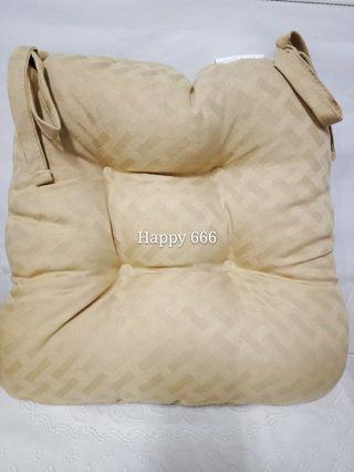 🚚 WAMSUTTA品牌 綁帶坐墊 織布 高質感 加厚 金黃色(40*40cm/厚10cm)