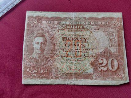 20 twenty cent 1st july 1941