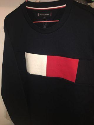 Flag Chest Logo Sweatshirt Sky Captain