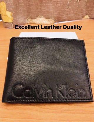 Calvin Klein. CK. Mens Billfold Wallet. BLACK. Genuine Smooth Soft Leather. BNIB. AUTHENTIC.