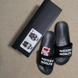 Authentic Disney Mickey Black Summer Sandals in Black - Men Size / Free Size