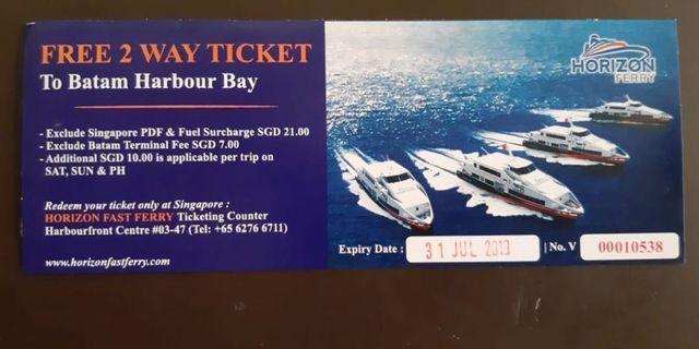 Ferry ticket to Batam