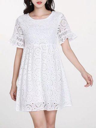 Brand New Eyelet Babydoll Dress