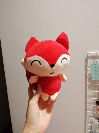 🚚 Red cute fox plushie / soft toy