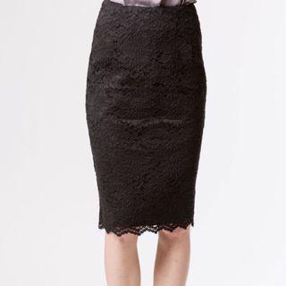 Classic Lace Pencil Skirt 經典黑色Lace鉛筆裙