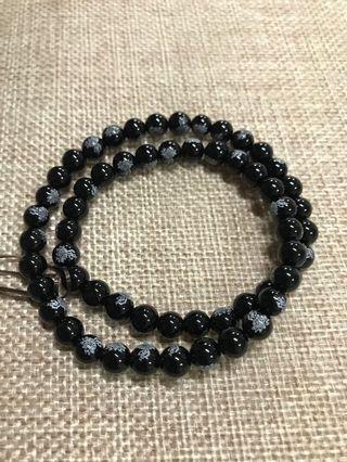 6mm Agate 2 loops Bracelet