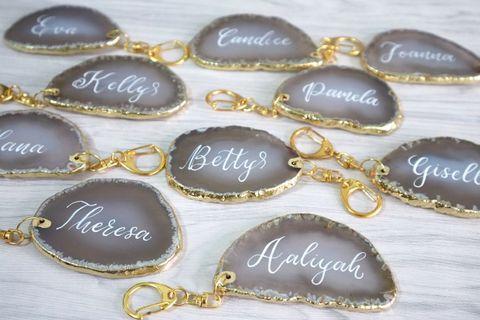 瑪瑙鎖匙扣 #生日 #畢業 #結婚 #散水 #週年禮物