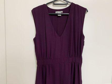 🚚 H&M V-neck Purple Maxi Dress
