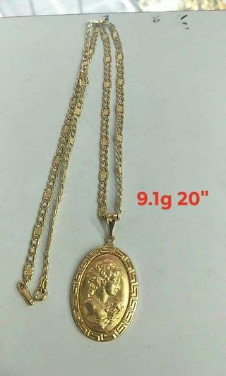 Queen Elizabeth necklaces Saudi gold 18k