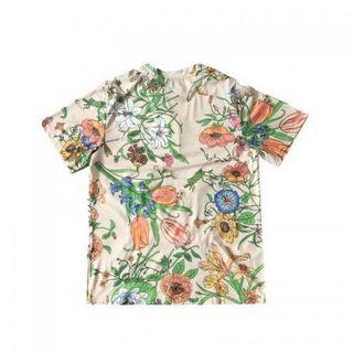 Big brand gucc* floral embroidery t-shirt tee