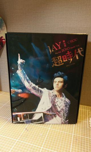 99%新 周杰倫 預購版 The Era 2010 World Tour DVD+CD