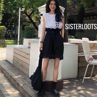 Stephanie Paperbag Shorts Black