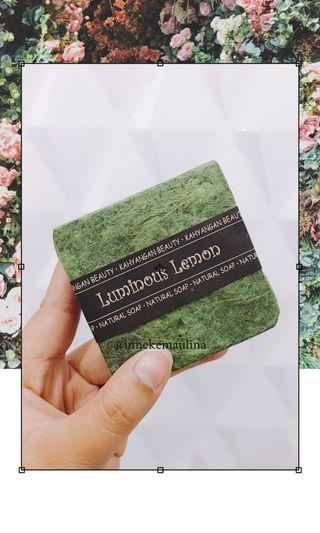 Natural Soap from Bali Luminous Lemon (FREE Bubble Net)