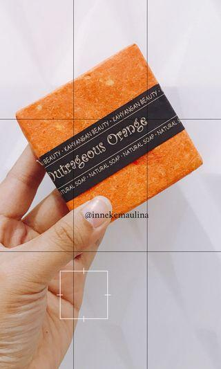 Natural Soap from Bali Outrageous Orange (FREE Bubble Net)