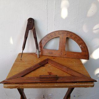 For Rent: Vintage Teachers Geometry Teaching Tools