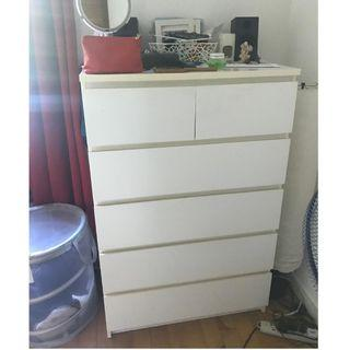 5-Tier Chest of Drawers (White)