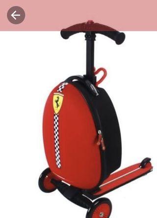 Ferrari 二合一兒童行李箱滑板車(全新)