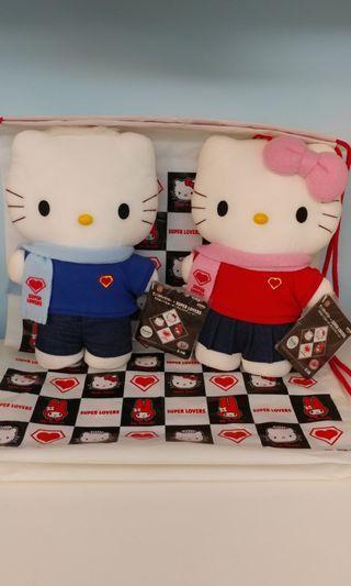 [產假最後清屋] super lover x hello kitty 絕版情侶公仔