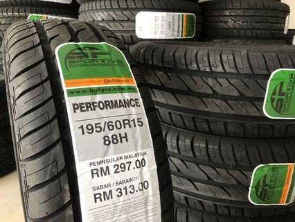 New tyre continental sportiva 195 60 15