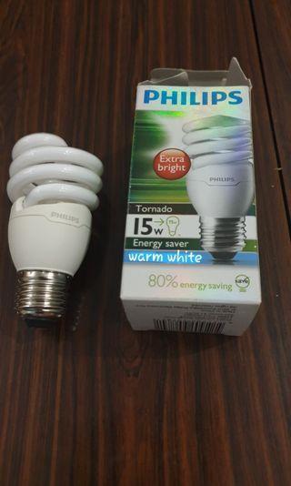 Philips tornado 15w light bulb to let go