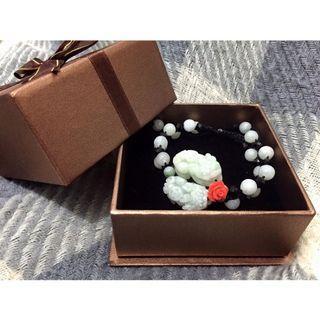 JIN YANG 富貴典藏頂級天然玉石珊瑚貔貅手鍊