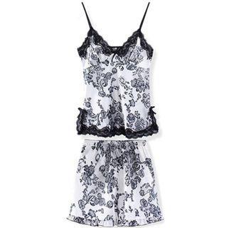 🚚 Lacy Floral 2 pcs sleepwear