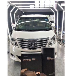 Toyota Alphard protected by Tacsystem Power Plus Quartz Coating