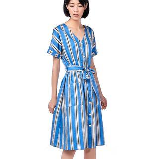 TEM The Editor's Market Fernanda Stripe Midi Dress