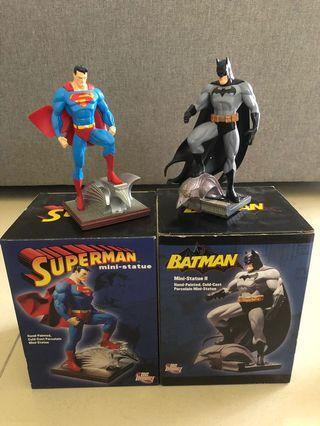 Batman & Superman Hush Jim Lee 6 Inch + DC Direct Mini Statue Dc Comics