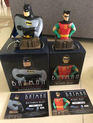 🚚 Batman & Robin Animated Series Bust Dc Direct Dc Comics Limited 3000 Numbered w COA