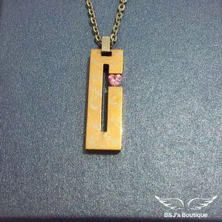 316白鋼項鍊 愛心 粉鑽 鋼鍊 玫瑰金 字母 女鍊