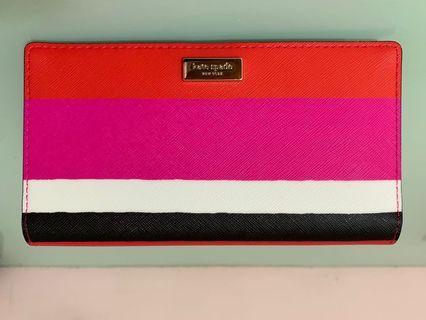 🚚 Kate Spade Laurel Way Bonita Stripe Wallet Purse